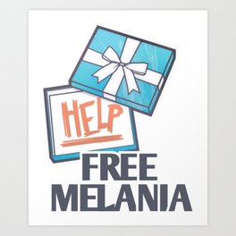 Free Melania Art Print