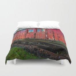 Old Train Wagon Duvet Cover