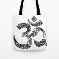 ohm Tote Bags featuring Ohm by Cynthia Nyongesa