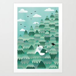 Tree Hugger (Spring & Summer version) Art Print