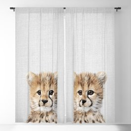 Baby Cheetah - Colorful Blackout Curtain