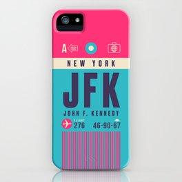 Retro Airline Luggage Tag - JFK New York iPhone Case