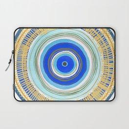 Turquoise Evil Eye Mandala Laptop Sleeve