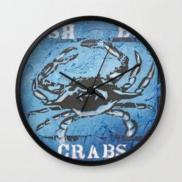Fresh Blue Crabs Wall Clock