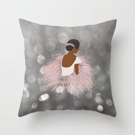 African American Ballerina Dancer Throw Pillow