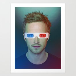 Jesse watching in 3D - Breaking Bad Art Print