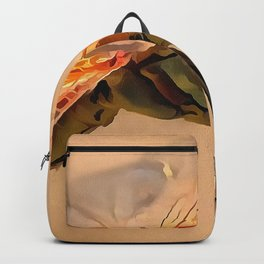 Painted Dragonfly Isolated Against Ecru Backpack