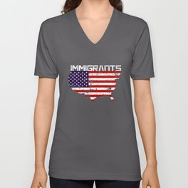 Immigrant design Unisex V-Neck