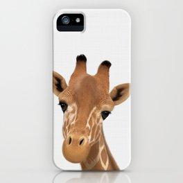 Safari nursery art, Giraffe print, Safari animals wall art, Baby giraffe iPhone Case