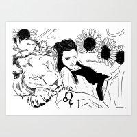 leo Art Prints featuring Leo by Cassandra Jean