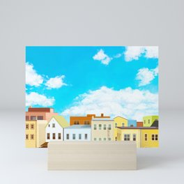 Astoria View on Ditmars, Queens, New York Mini Art Print