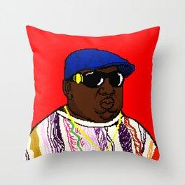 BIG Pixel Portrait Throw Pillow
