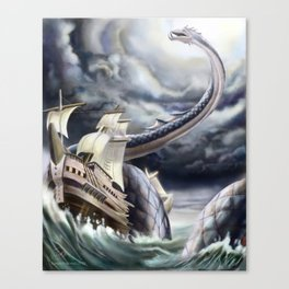 A Fishermen's Nightmare Canvas Print