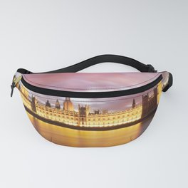 Houses of Parliament at dusk Fanny Pack