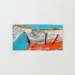 A boat that was washed ashore on Ageon Sea, decaying in the sun. Hand & Bath Towel