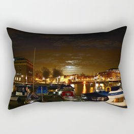 Yellow Moon Rectangular Pillow