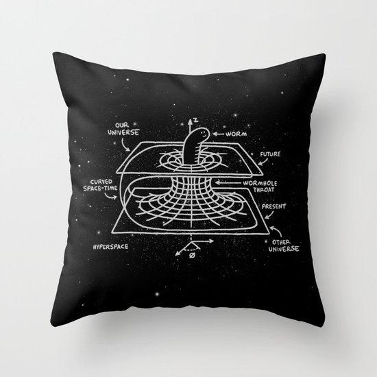Cosmic Wormhole Throw Pillow
