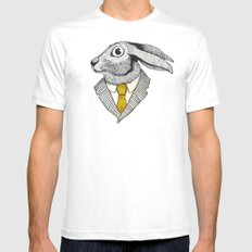 El conejo careta White X-LARGE Mens Fitted Tee