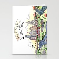 austin Stationery Cards featuring We Belong in Austin by Brooke Weeber