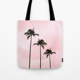 Palm Tree Photography Peach | Blush Pink | Millennial Pink | Miami Tote Bag