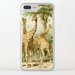 Royal Natural History 1893-1896 - South African Giraffes Clear iPhone Case