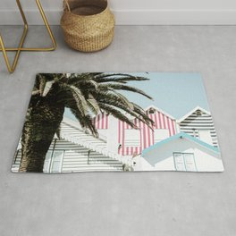 Candy Striped Houses Rug