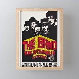 1969 The Band at Winterland Ballroom Concert Poster Framed Mini Art Print