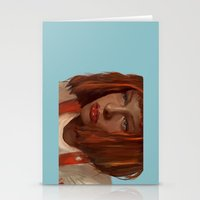 fifth element Stationery Cards featuring leeloo - the fifth element by salem jones