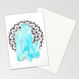 Aqua Aura Mandala Stationery Cards