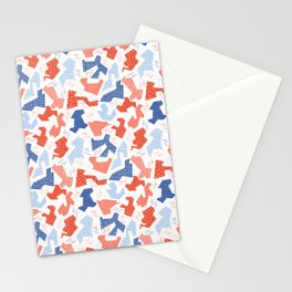 Memphis Style Geometric Abstract Seamless Pattern Stationery Cards