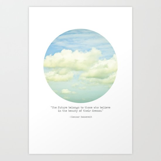 The beauty of the dreams Art Print