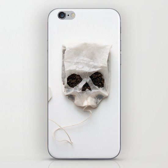 253. Tea Bag Skull iPhone & iPod Skin