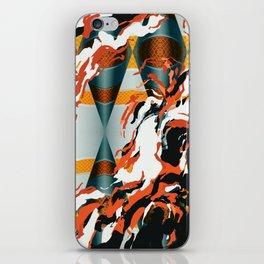 Orange Waterfall Futuristic Abstract Art iPhone Skin