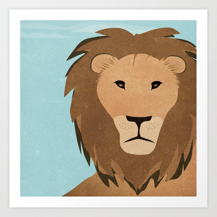 L is for Lion Art Print