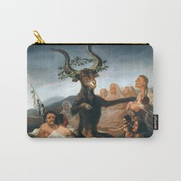 The Sabbath of Witches Goya Painting Carry-All Pouch