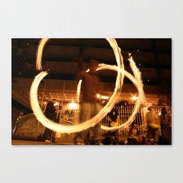 Fire Dancer Dame St Dublin Canvas Print