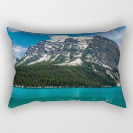 Canadian Rockies and Turquoise Waters Rectangular Pillow