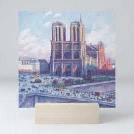 Notre Dame Cathedral, Paris, France Masterpiece by Maximilian Luce Mini Art Print
