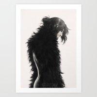 kili Art Prints featuring Raven kili by ScottyTheCat