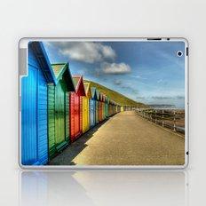 Whitby Beach Huts Laptop & iPad Skin