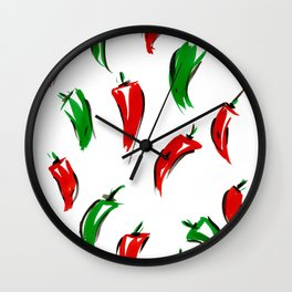 Peppers I Wall Clock