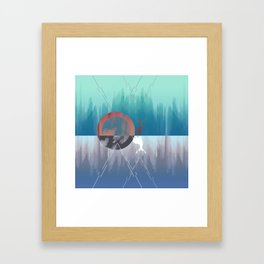 Summer & Winter Framed Art Print