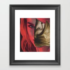 Red Hairing Framed Art Print