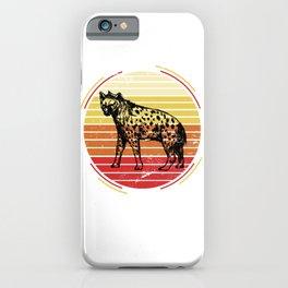 Retro Hyena iPhone Case