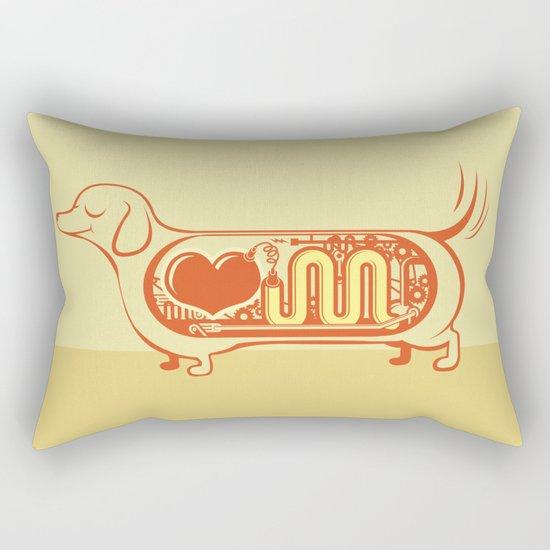 I heart sausage dogs Rectangular Pillow