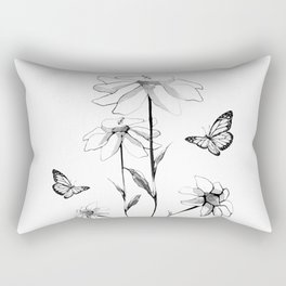 Flowers and butterflies 2 Rectangular Pillow
