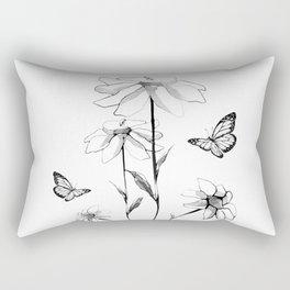 Flowers and butterflies 2 Rectangular Pillow