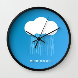 Simplistic Seattle  Wall Clock
