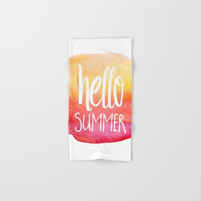 Hello Summer Hand & Bath Towel