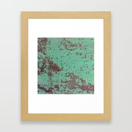 Copper Rusty Surface Framed Art Print